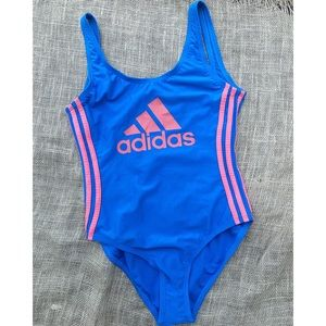 Adidas   One Piece Low Back Swimsuit Brand New